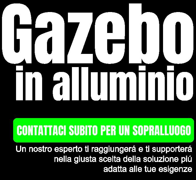 gazebo in alluminio
